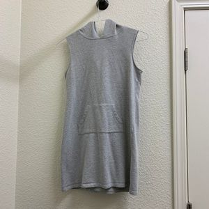 Grey tank top hoodie dress Size S